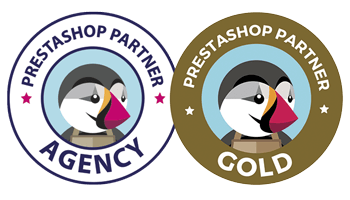 Insignias agencia PrestaShop partner GOLD