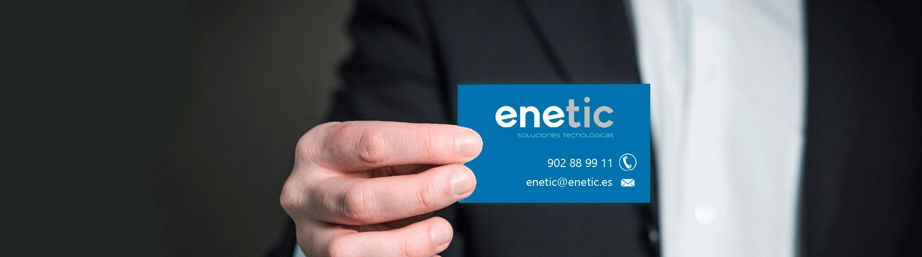 Contactar con Enetic Proyectos · Soluciones tecnológicas en Valencia