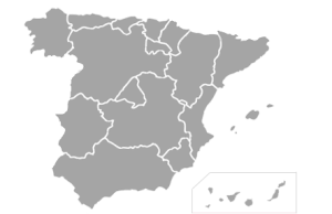 Mapa político España 300x194